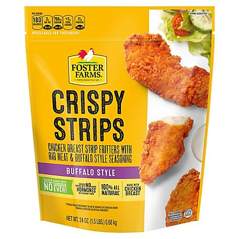 Foster Farms Chicken Strips Buffalo Style Hot - 24 Oz