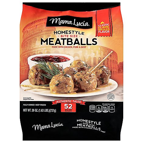 Mama Lucia Meatballs Cocktail Size Homestyle - 38.4 Oz