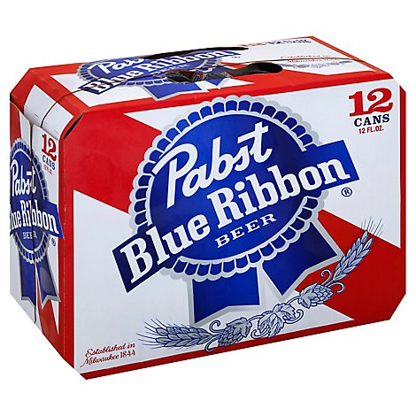 Pabst Blue Ribbon Beer Lager Cans - 12-12 Fl. Oz.