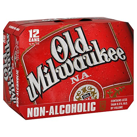 Old Milwaukee Non-Alcoholic Beer Cans - 12-12 Fl. Oz.