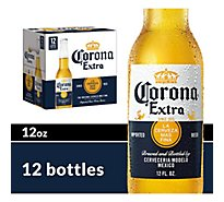 Corona Extra Beer Mexican Lager 4.6% ABV Bottle - 12-12 Fl. Oz.
