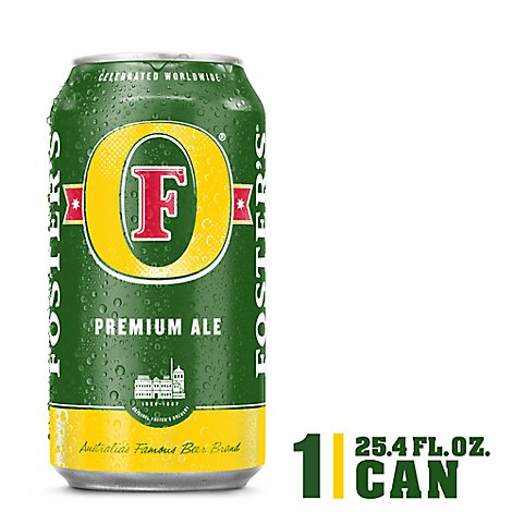 Fosters Beer Ale Premium 5% ABV In Can - 25.4 Fl. Oz.