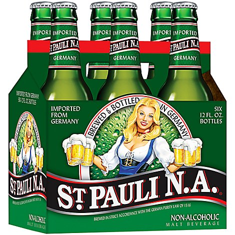 St Pauli Girl Non-Alcoholic Beer Bottles - 6-12 Fl. Oz.