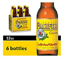 Pacifico Clara Mexican Lager Beer Bottles 4.4% ABV - 6-12 Fl. Oz.