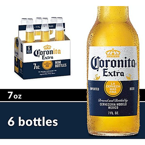 Corona Extra Beer Coronita Mexican Lager 4.6% ABV Bottle - 6-7 Fl. Oz.