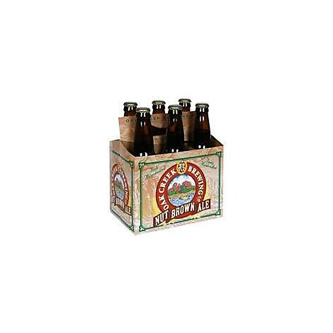 Oak Creek Nut Brown Ale Beer Bottles - 6-12 Fl. Oz.