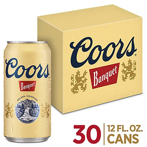 Coors Banquet Beer Lager 5% ABV In Can - 30-12 Fl. Oz.
