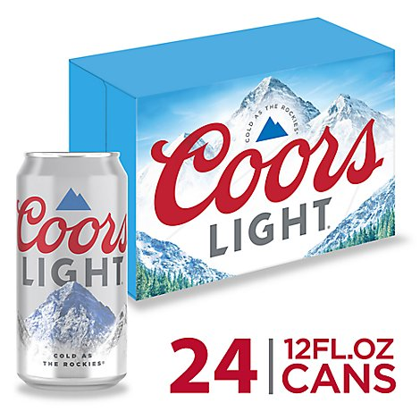 Coors Light Beer Lager 4.2% ABV In Can - 24-12 Fl. Oz.