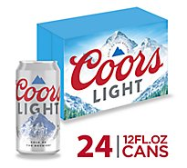 Coors Light Beer Lager 4.2% ABV In Cans - 24-12 Fl. Oz.