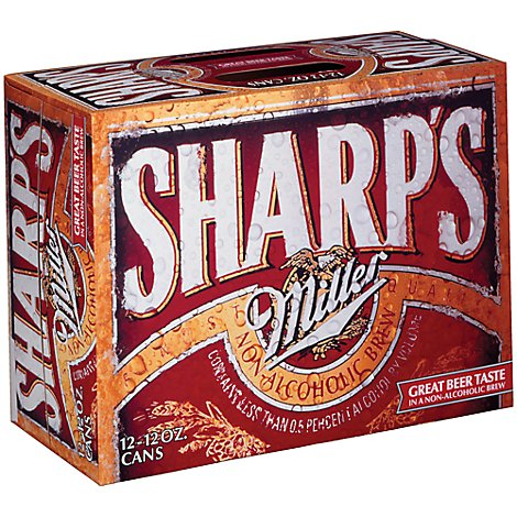 Sharps Non-Alcoholic Brew Cans 0.5% ABV - 12-12 Fl. Oz.