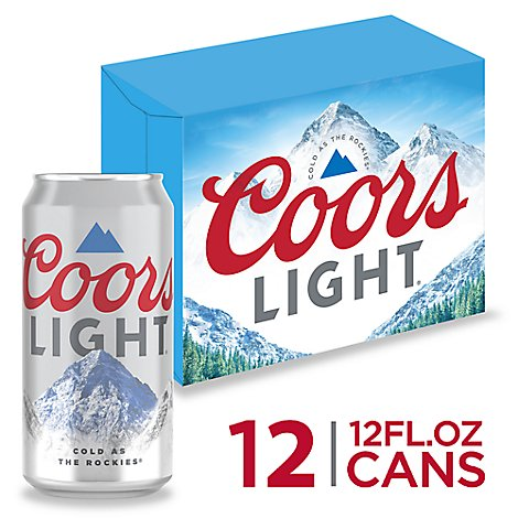 Coors Light Beer Lager 4.2% ABV In Can - 12-12 Fl. Oz.