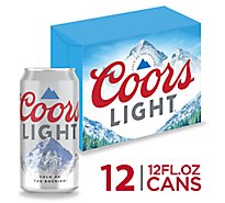 Coors Light Lager Beer Cans 4.2% ABV - 12-12 Fl. Oz.