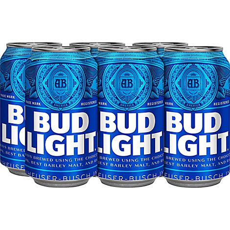 Bud Light Beer Cans - 6-12 Fl. Oz.