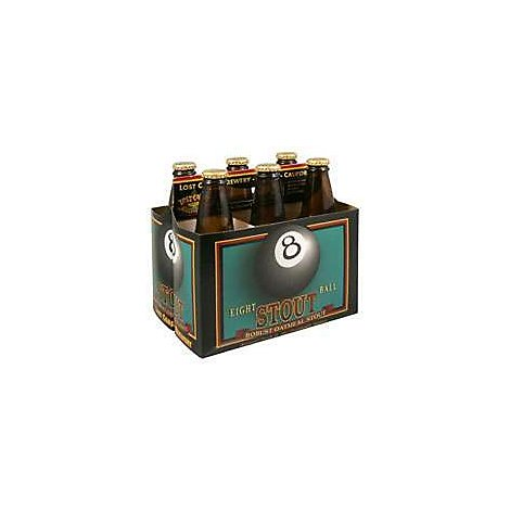 Lost Coast 8 Ball Stout Beer Bottles - 6-12 Fl. Oz.