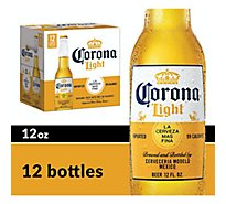 Corona Light Beer Mexican Lager Bottle 4.0% ABV - 12-12 Fl. Oz.