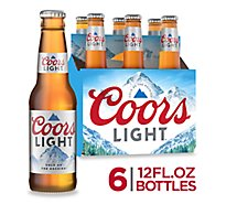Coors Light Beer Lager 4.2% ABV In Bottles - 6-12 Fl. Oz.
