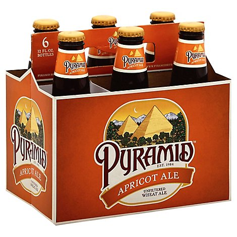 Pyramid Beer Ale Unfiltered Wheat Apricot In Bottles 5.1% ABV - 6-12 Fl. Oz.