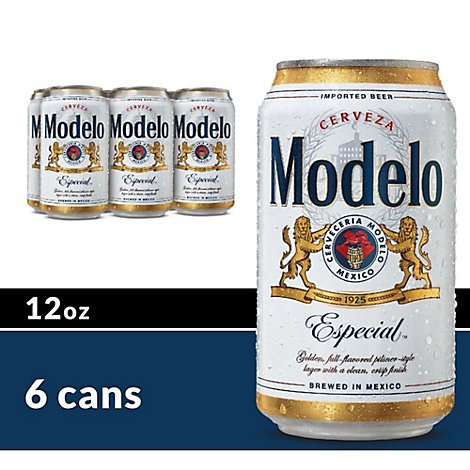 Modelo Especial Beer Mexican Lager 4.4% ABV Cans - 6-12 Fl. Oz.