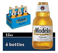 Modelo Especial Beer Mexican Lager 4.4% ABV Bottles - 6-12 Fl. Oz.