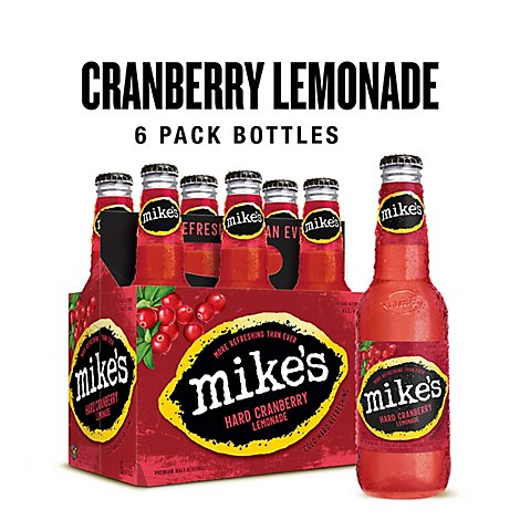 Mikes Hard Beverage Cool Hard Refreshing Lemonade Cranberry Passion Fruit Bottle - 6-11.2 Fl. Oz.