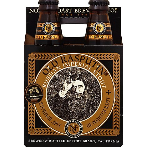 North Coast Beer Old Rasputin Russian Imperial Stout Bottle - 4-12 Fl. Oz.