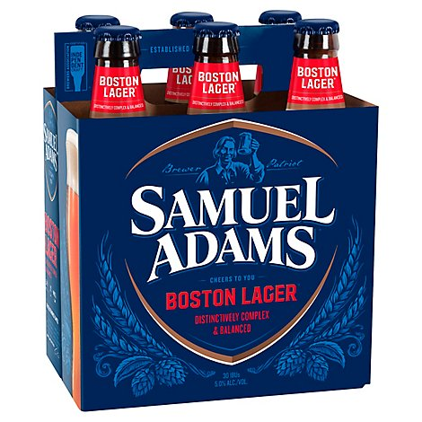 Samuel Adams Beer Boston Lager Pack In Bottles - 6-12 Fl. Oz.