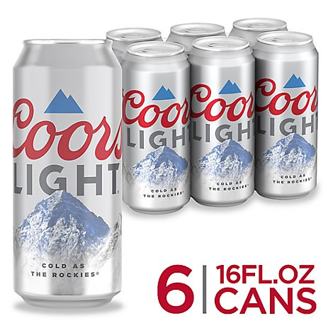 Coors Light Beer Lager 4.2% ABV In Can - 6-16 Fl. Oz.