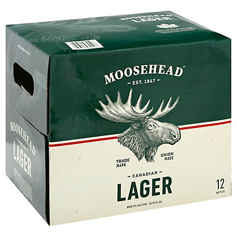 Moosehead Beer Lager Bottle - 12-12 Fl. Oz.