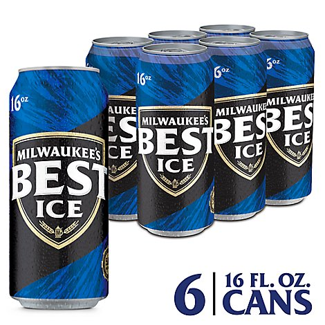 Milwaukees Best Ice Lager Beer Cans 5.9% ABV - 6-16 Fl. Oz.