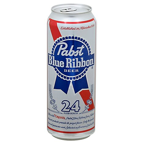 Pabst Blue Ribbon Beer Lager Can - 24 Fl. Oz.