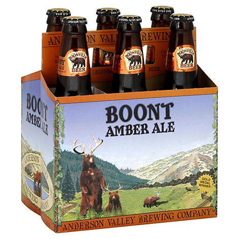 Anderson Valley Brewing Beer Boont Amber Ale Bottles - 6-12 Fl. Oz.