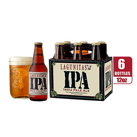 Lagunitas Beer IPA India Pale Ale Bottle - 6-12 Fl. Oz.
