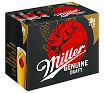 Miller Genuine Draft Beer Lager 4.6% ABV Can - 30-12 Fl. Oz.