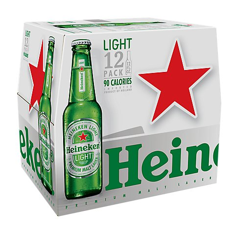 Heineken Premium Beer Light Bottle - 12-12 Fl. Oz.