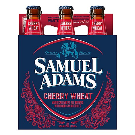 Samuel Adams Beer Brewmasters Cherry Wheat Ale Bottles - 6-12 Fl. Oz.