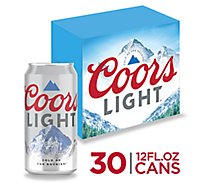 Coors Light Beer Lager 4.2% ABV In Cans - 30-12 Fl. Oz.