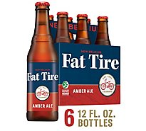 New Belgium Beer Fat Tire Amber Ale Bottle - 6-12 Fl. Oz.