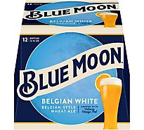 Blue Moon Craft Beer Wheat Belgian White 5.4% ABV In Bottles - 12-12 Fl. Oz.