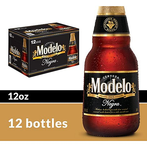 Modelo Negra Mexican Import Beer Bottles 5.4% ABV - 12-12 Fl. Oz.