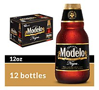 Modelo Negra Beer Mexican Amber Lager 5.4% ABV Bottle - 12-12 Fl. Oz.