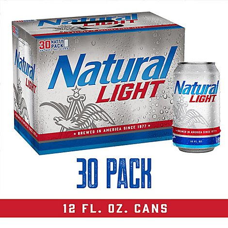 Natural Light Beer Cans - 30-12 Fl. Oz.