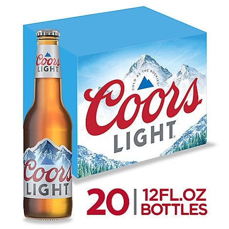 Coors Light Beer Lager 4.2% ABV Bottle - 20-12 Fl. Oz.