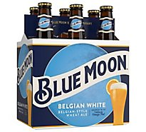 Blue Moon Belgian White Belgian Style Wheat Ale Beer Bottles 5.4% ABV - 6-12 Fl. Oz.