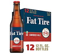 New Belgium Beer Fat Tire Amber Ale Bottle - 12-12 Fl. Oz.