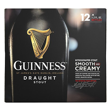 Guinness Draught Beer Bottle - 12-11.2 Fl. Oz.