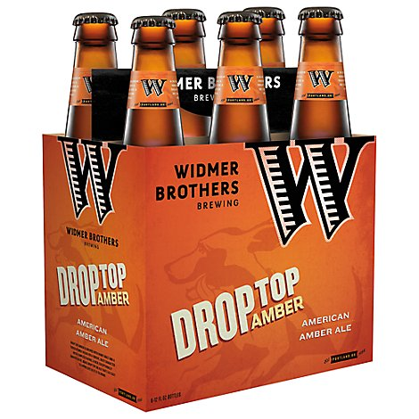 Widmer Brothers Drop Top Amber Ale Beer Bottles - 6-12 Fl. Oz.