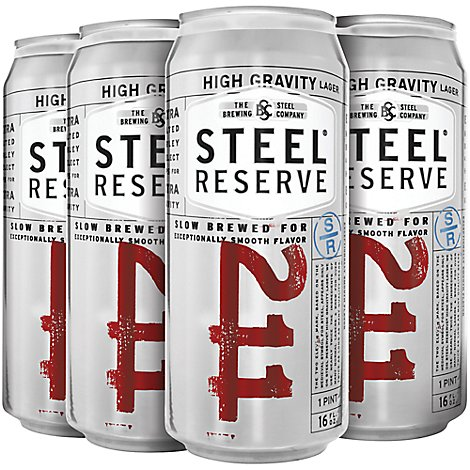 Steel Reserve High Gravity Lager Beer Cans 8.1% ABV - 6-16 Fl. Oz.