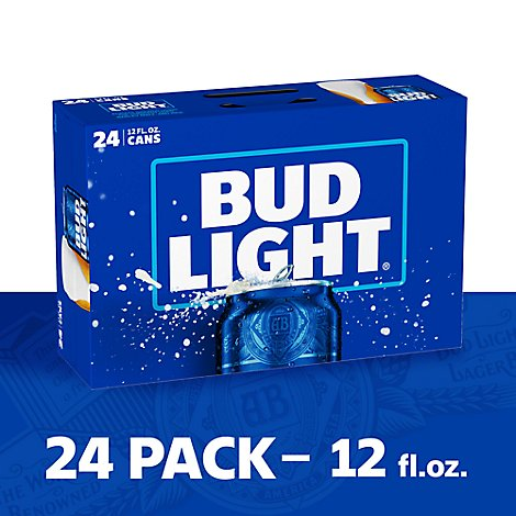Bud Light Beer Can - 24-12 Fl. Oz.