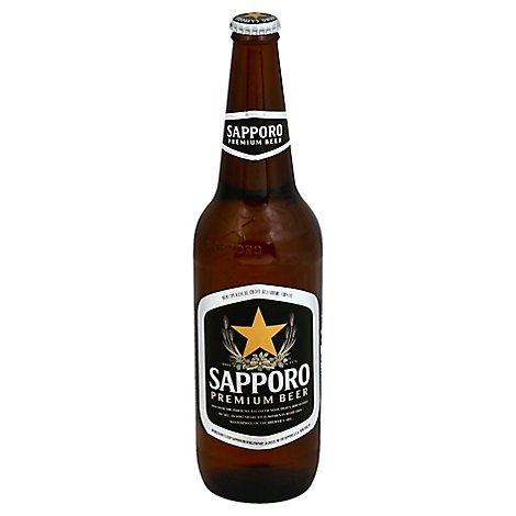 Sapporo Draft Beer Bottle - 20.3 Fl. Oz.