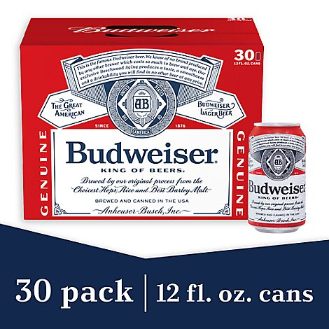 Budweiser Beer Cans 30 12 Fl Online Groceries Safeway